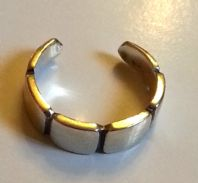 Sterling Silver Toe ring - Chunky Segments